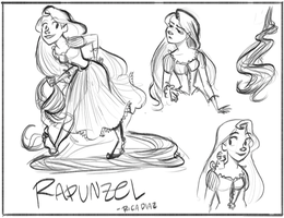 Rapunzel sketches by vanipy05