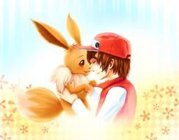 Red and Eevee by Dekus