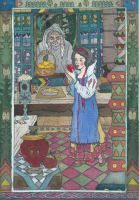 SNOW WHITE in the style of Ivan BILIBIN by oxonobsn