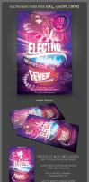 Electro Night Fever Flyer Template by hugoo13