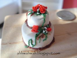 Rose Cake I by abohemianbazaar