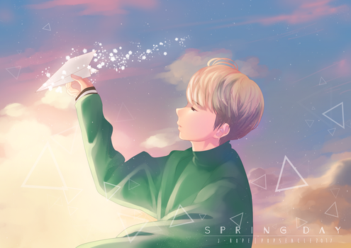 SPRING DAY - J-HOPE by popseacle