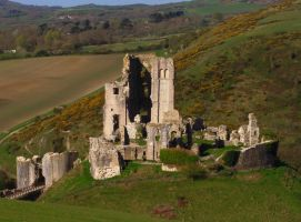 Corfe Castle by Xs9nake