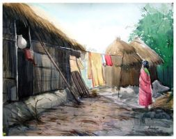 village - II by asbiswas