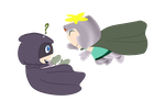Mysterion and Professor Chaos by 4CatsinaBoat