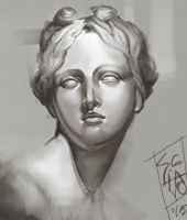 Statue study by Cahlline