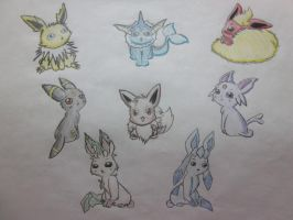 Eevee Evolutions by YellowStones