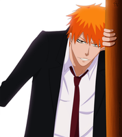 Ichigo with suit by hyugasosby