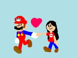 Mario And Eve Art Trade by Admin2845