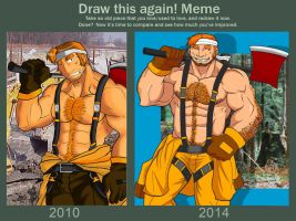 Mr. Worker Before and After MEME by rhimes1999