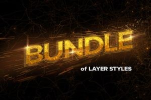 70 Text Effects Layer Styles Bundle by MrSuma