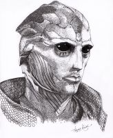 Thane Krios -Lines- by Haddrian