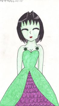 Emerald in a dress by Invader-Sky