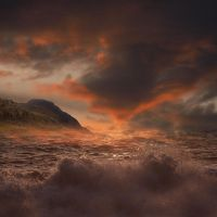 STORMY SEA SCAPE by TADBEER