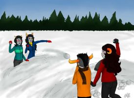CHRISTMASTUCK SNOWBALL FIGHT by moomoo-juice