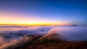 Golden Gate, early morning lights by alierturk