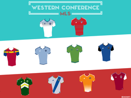 MLS Western Conference 2015 Poster by caseharts