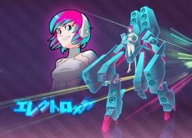 ElectroMecha Girl by Designed-One