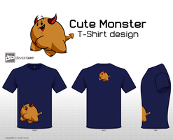 Cute Monster Design by OzzieScribbler
