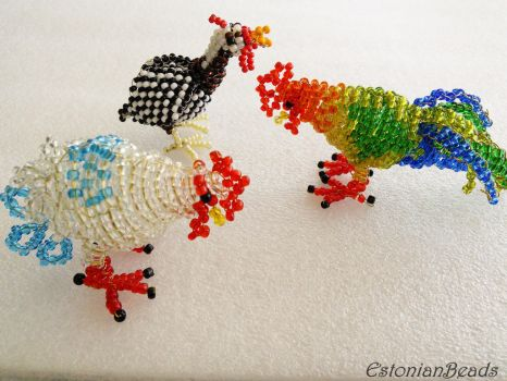 Beaded chickens by EstonianBeads