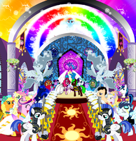 Prince Lightning and Pinkie Wedding by Cast2012