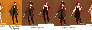 [UPDATED] Outfit Line-Up for my OC by ScenePika
