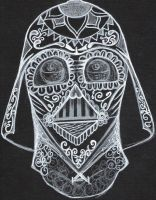 Darth Vader Sugar Skull by Evilrj