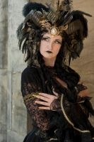 Stock - Black gold Vampire Queen Faun Demon 32 by S-T-A-R-gazer