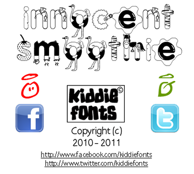 Innocent Smoothie Font by Kiddiefonts