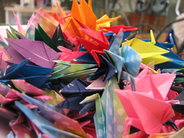 Paper Cranes by HeWasFiction