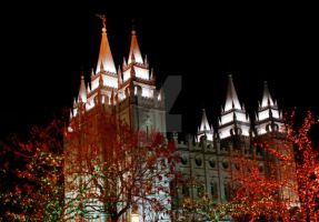 Salt Lake Temple - Christmas by houstonryan