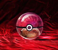 The Pokeball of the Real Eevee by wazzy88