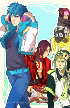 aoba and his 4 bfs by loonytwin