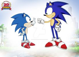 Sonic the Hedgehog -20 Years- by Ds-Seraphim