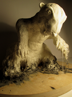 Melting Polar Bear Sculpture. by APlaceForStuff