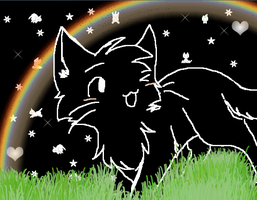 some random drawing of a cat in nyanland? owo by Snow-Berries