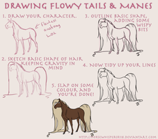 Flowy Manes and Tails by Whisperah