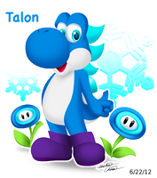Giftart: Talon the Yoshi by Bowser2Queen