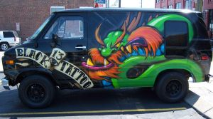 Black 13 Tattoo Van by RietOne