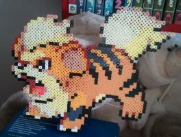 Growlithe made from Perler Beads by yolei-s