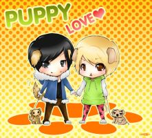 Puppy Love by hebi-mamecafe