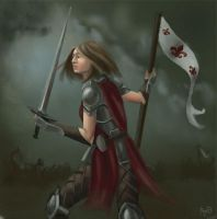 Joan of Arc by M-Whistler