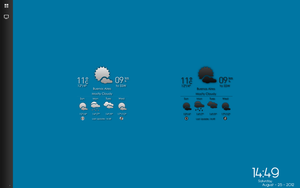 Plain Icons Weather For xWidget (Dark/Silver) by odyseus77