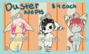 Duster Adopts- Batch 1 CLOSED by CorruptedWaffles