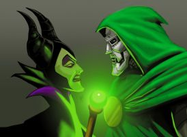 Maleficent vs DR Doom by LaRhsReBirTh