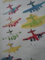 Aeroplanes screen printed then painted by andrea-gould