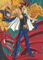 Yami Yugi Osiris and Exodia by Yamigirl21