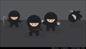 Ninjas by whiteowl152