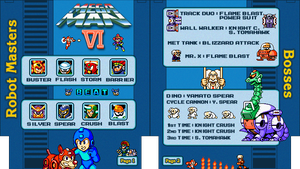 Mega Man 6 NES Cheat Sheet by Moelleuh