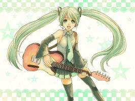 A guitar player miku by so-jiro